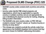 proposed dlms change pdc 325