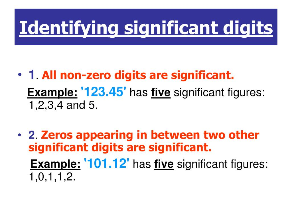 what are the rules in identifying significant figures
