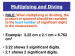 multiplying and diving
