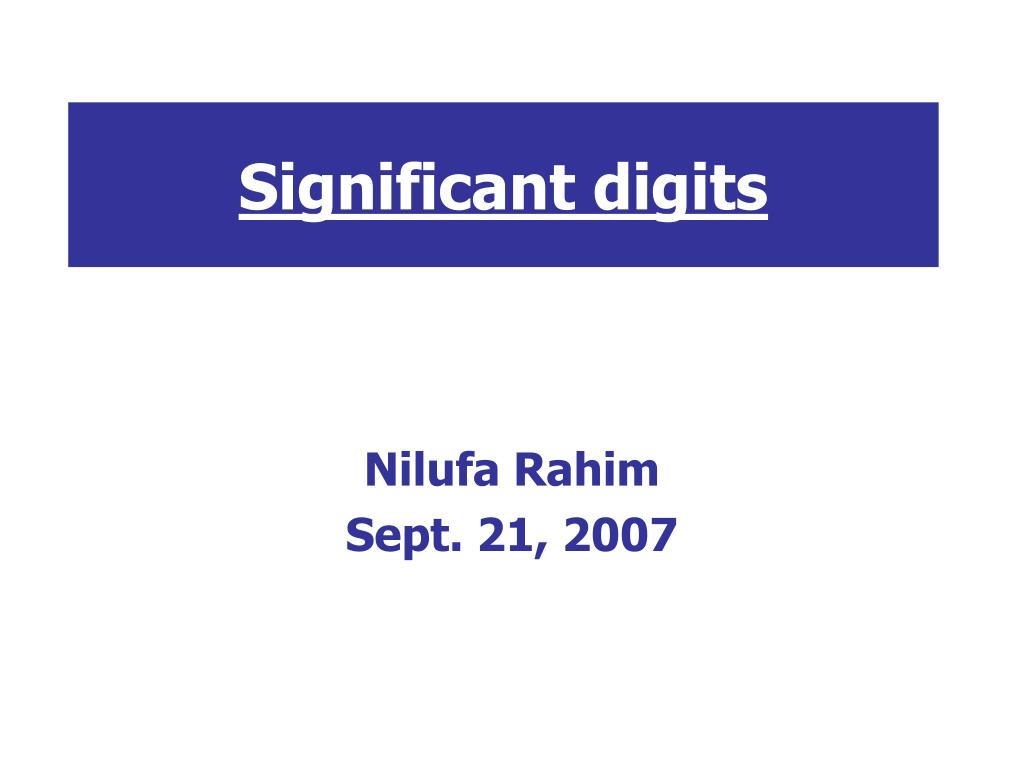 significant digits l.