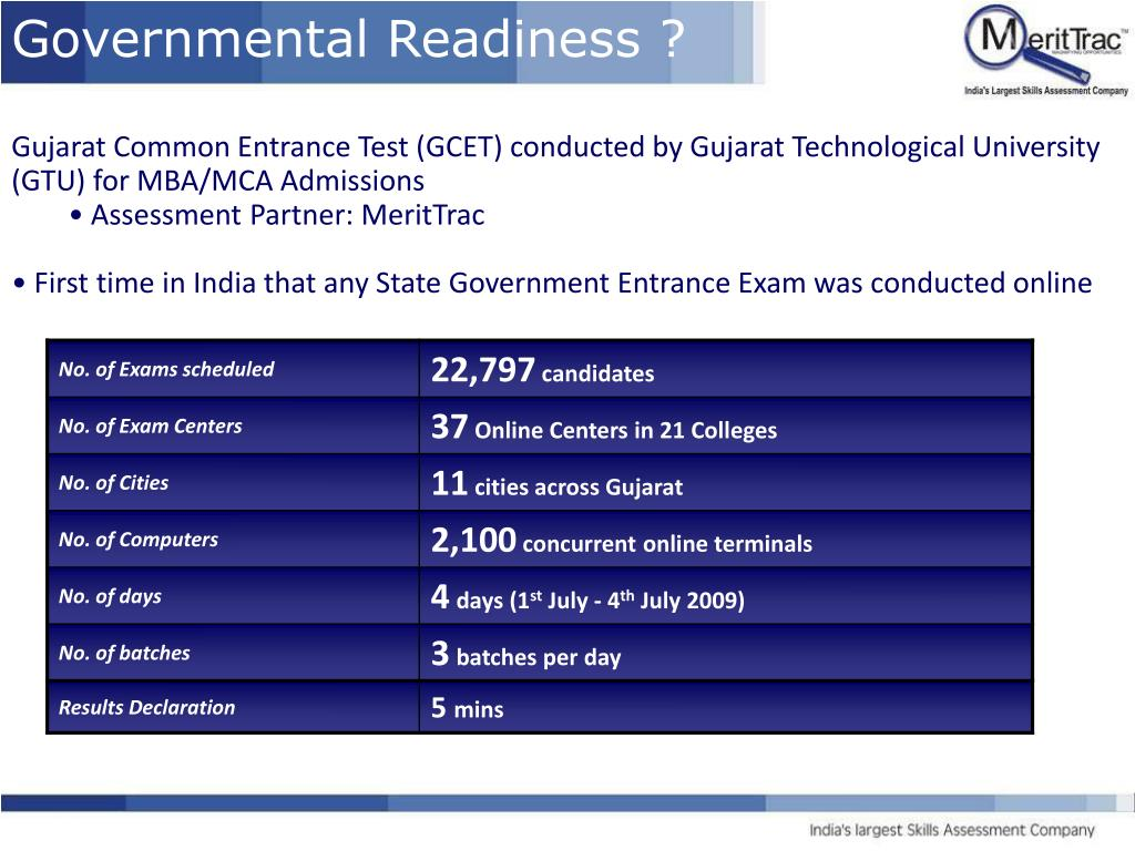 Governmental Readiness ?