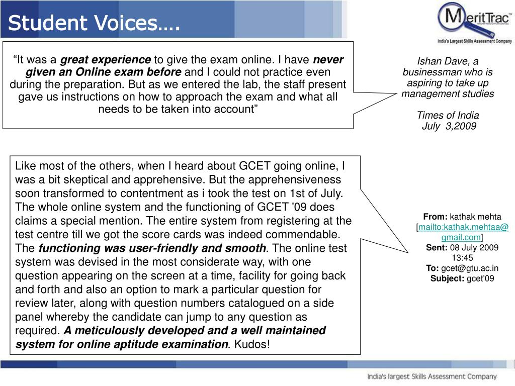 Student Voices….