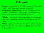 cells cont