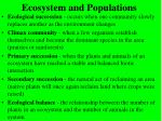 ecosystem and populations