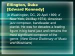 ellington duke edward kennedy