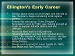 ellington s early career
