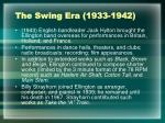 the swing era 1933 1942