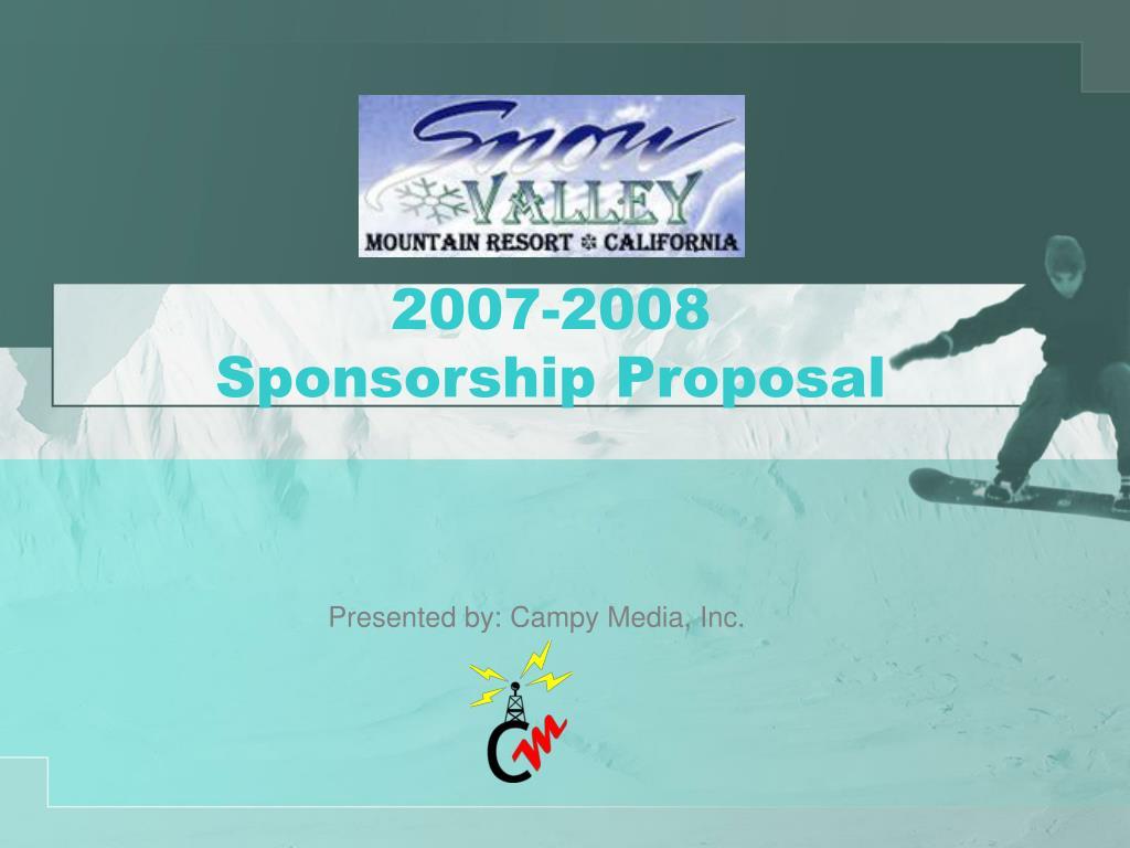 2007 2008 sponsorship proposal l.