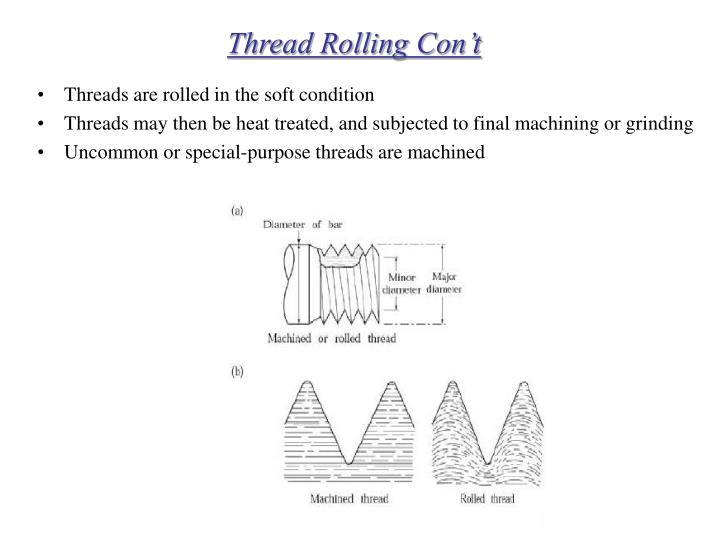 Thread Rolling Con't