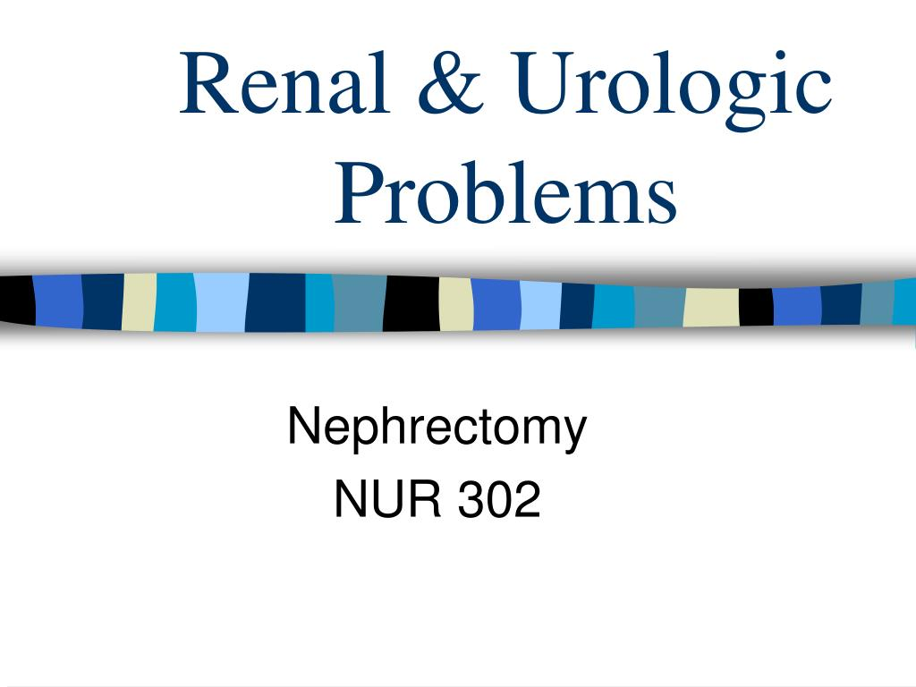 renal urologic problems l.