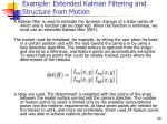 example extended kalman filtering and structure from motion