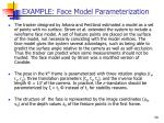 example face model parameterization