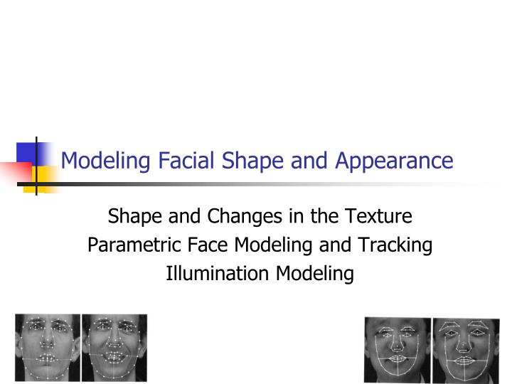 modeling facial shape and appearance n.