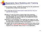 parametric face modeling and tracking