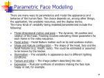 parametric face modeling