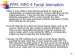 pfm mpg 4 facial animation