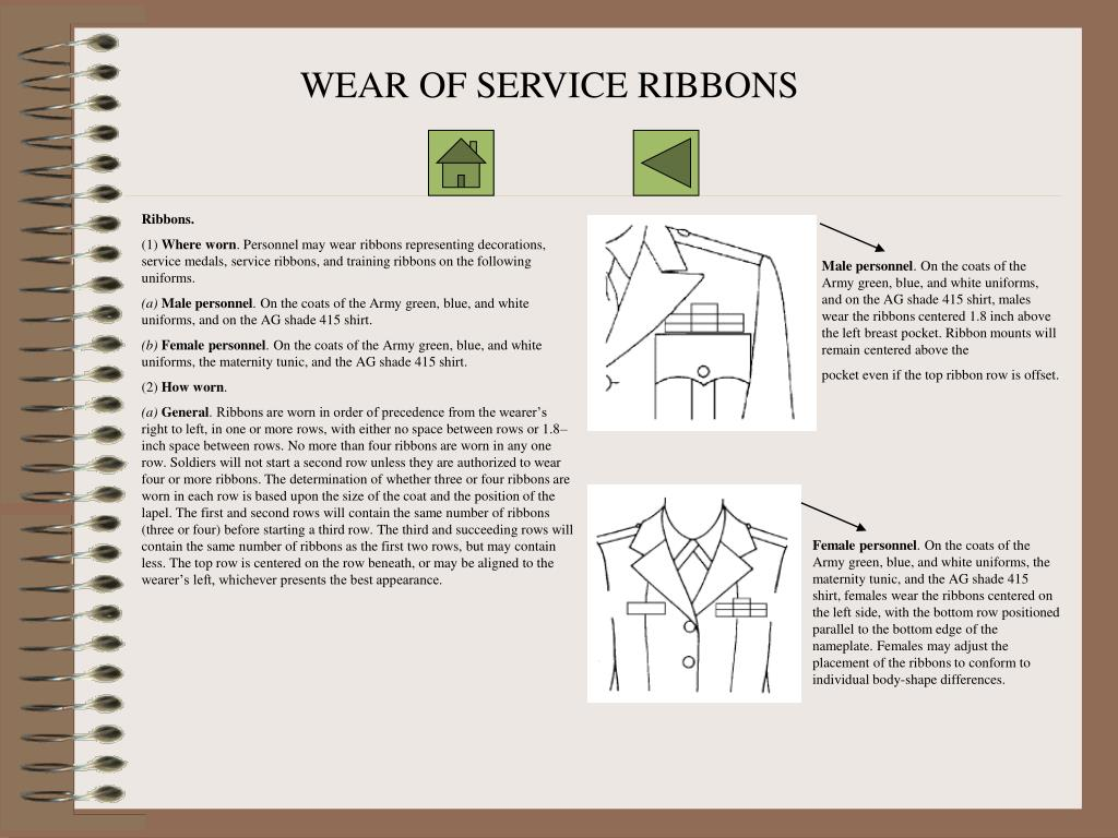 WEAR OF SERVICE RIBBONS