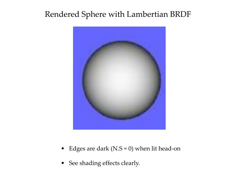 Rendered Sphere with Lambertian BRDF
