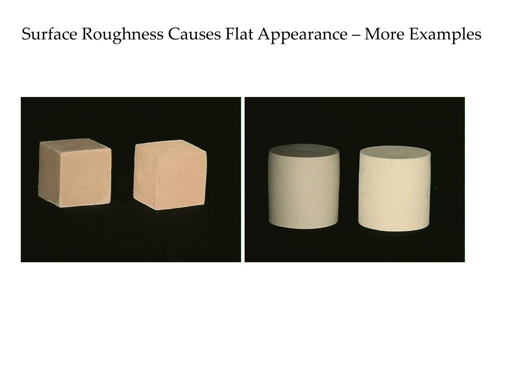 Surface Roughness Causes Flat Appearance – More Examples