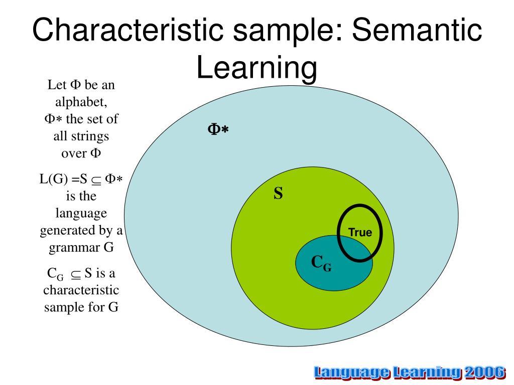 Characteristic sample: Semantic Learning
