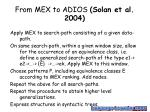 from mex to adios solan et al 2004