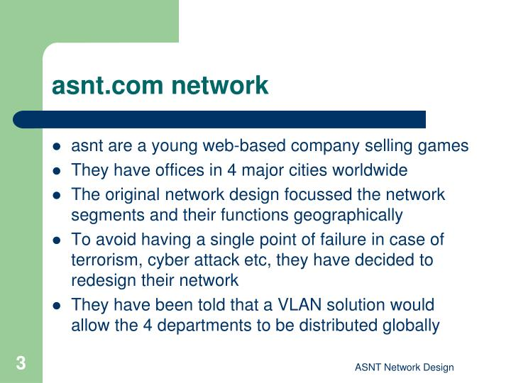 Asnt com network
