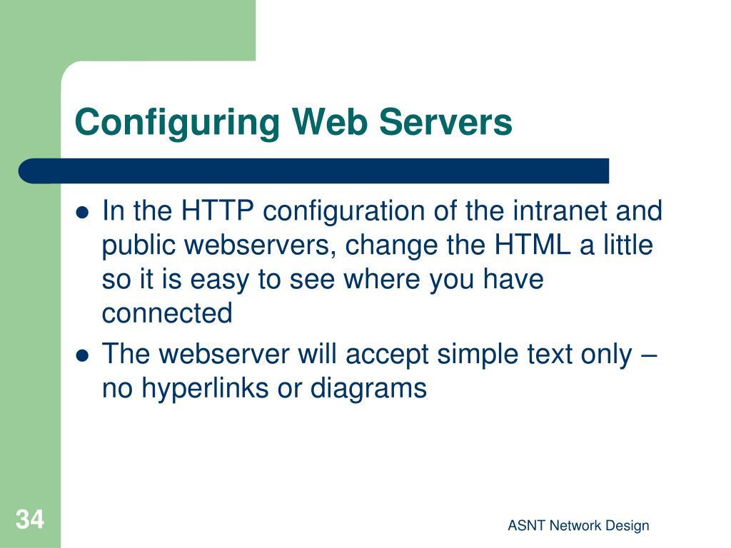 Configuring Web Servers