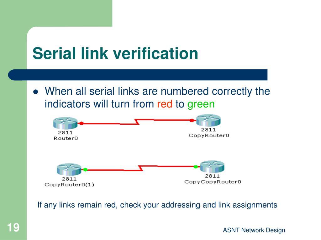 Serial link verification