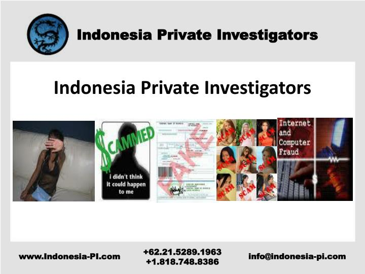 Indonesia Private Investigators