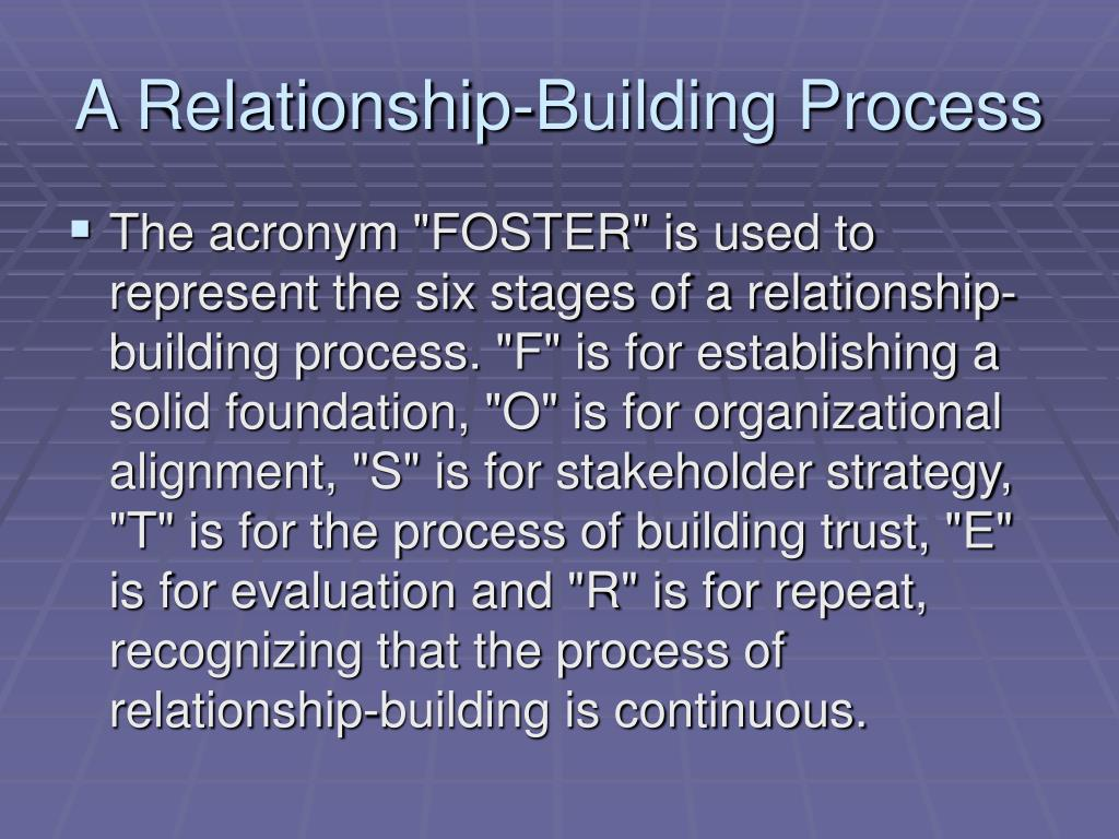 A Relationship-Building Process