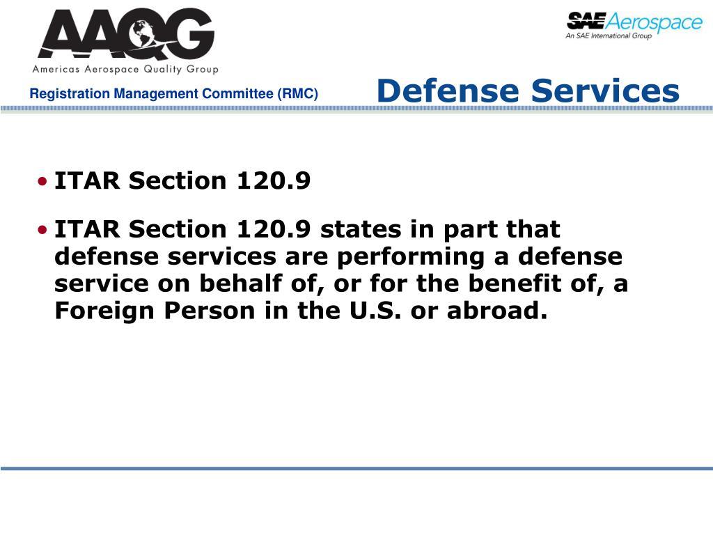 Defense Services
