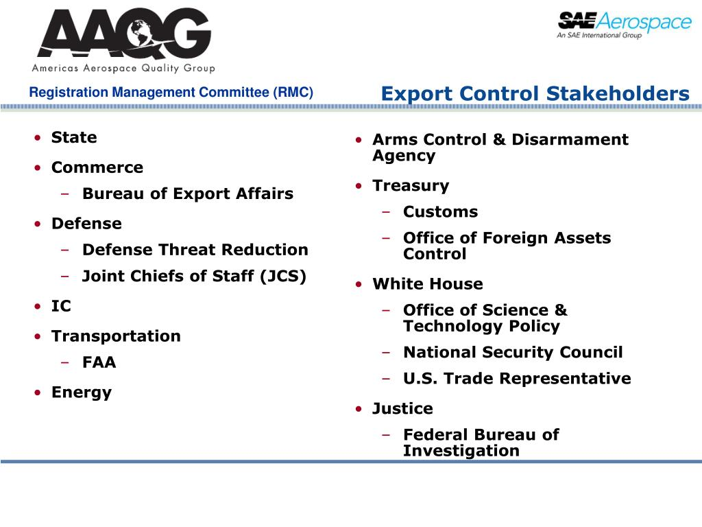 Export Control Stakeholders
