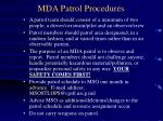 mda patrol procedures