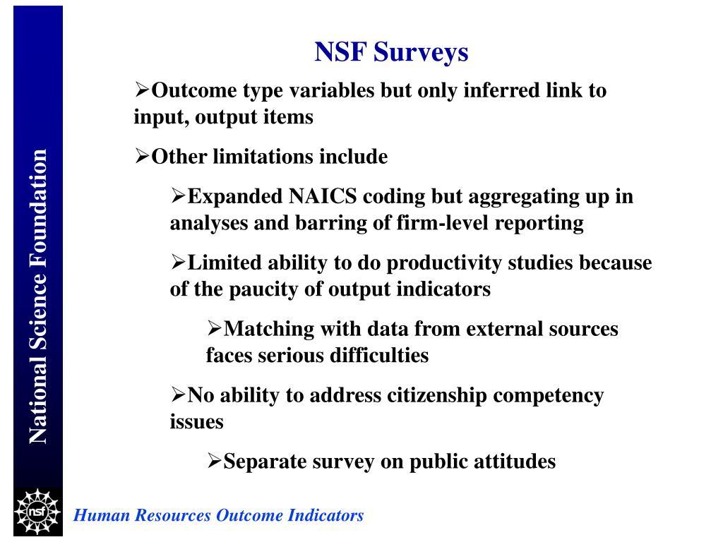 NSF Surveys