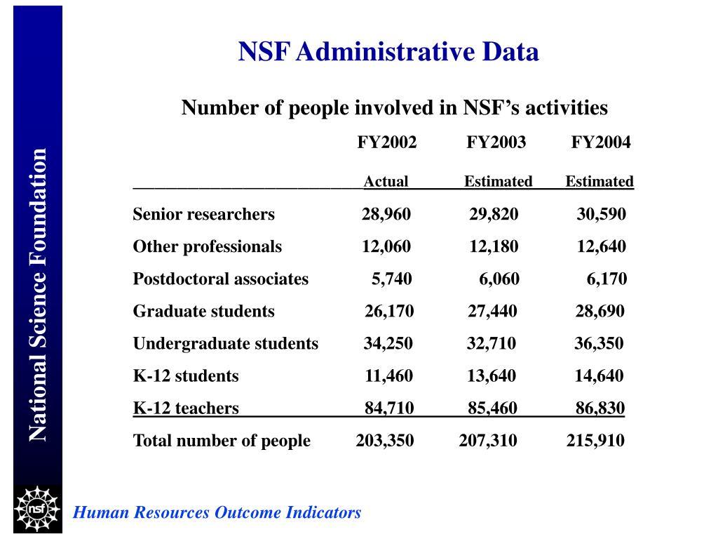 NSF Administrative Data