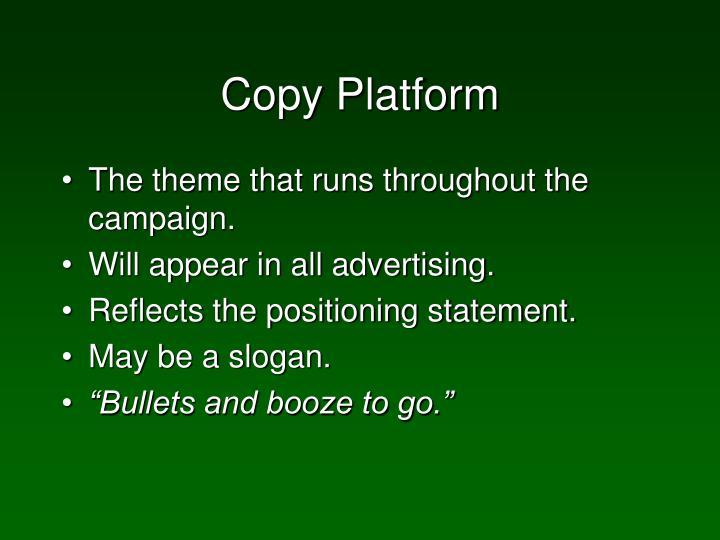 Copy platform