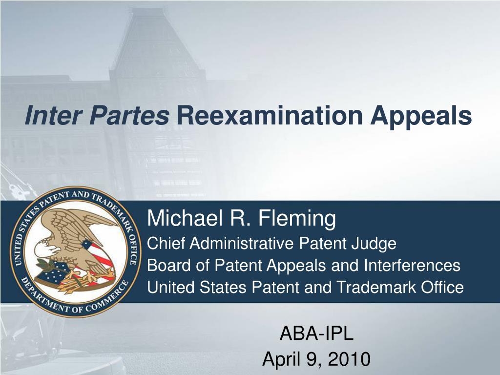 inter partes reexamination appeals l.