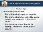 inter partes reexamination appeals23