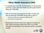 other health insurance ohi