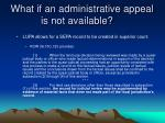 what if an administrative appeal is not available