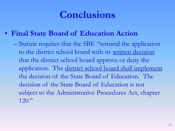 Final State Board of Education Action