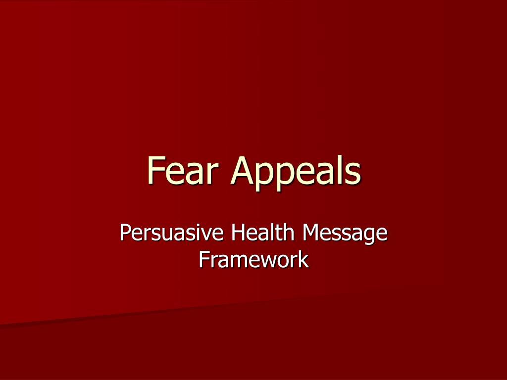 fear appeals l.