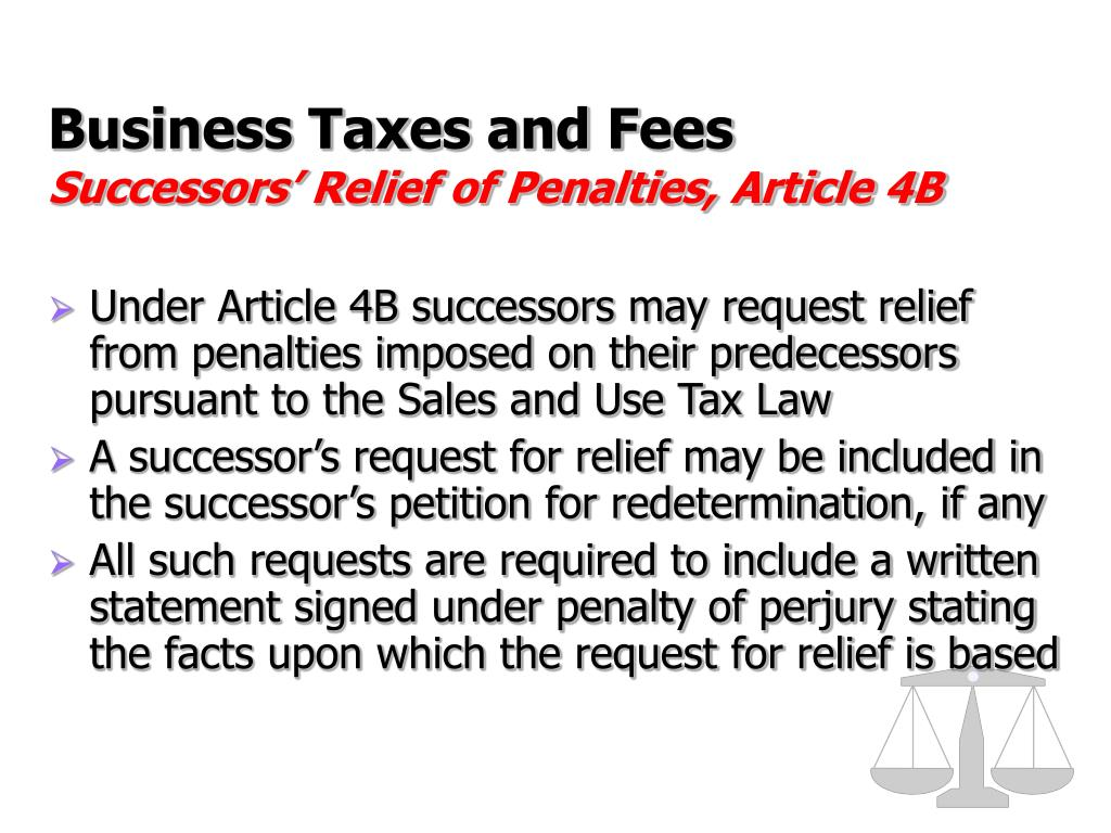 Business Taxes and Fees