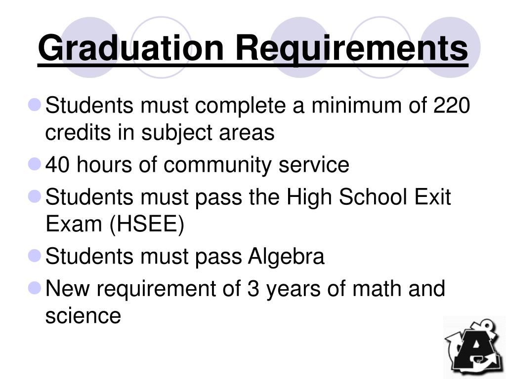 graduation requirements l.