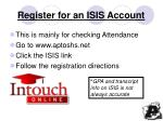 register for an isis account