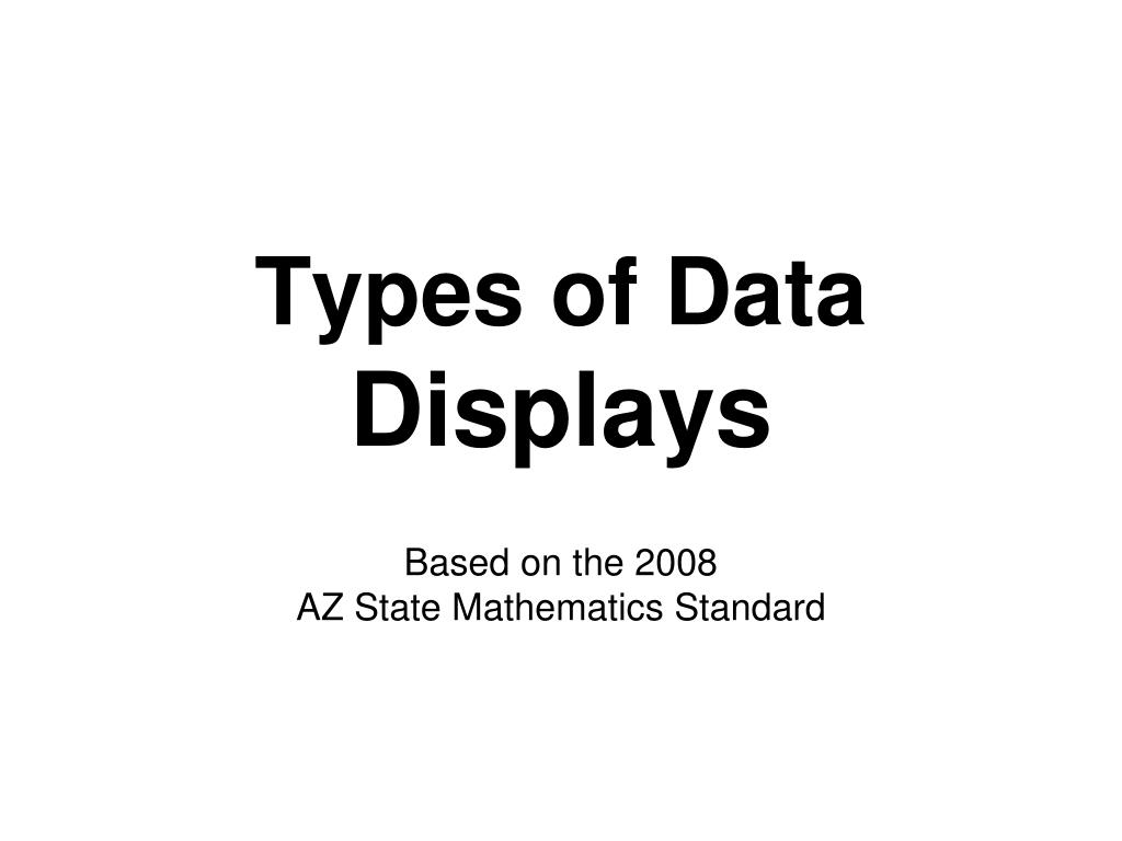 types of data displays l.