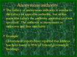 anonymous authority