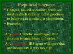 prejudicial language