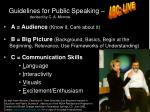 guidelines for public speaking
