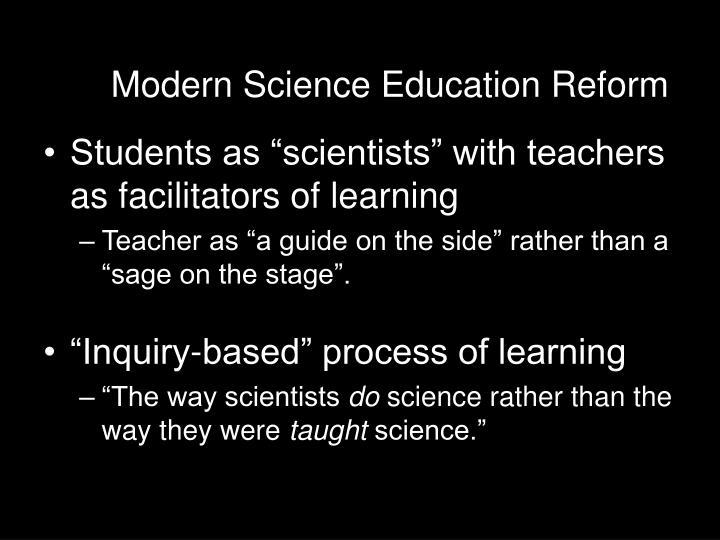 Modern Science Education Reform